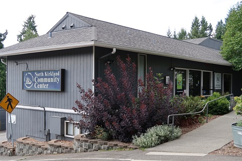Front view of North Kirkland Community Center
