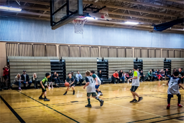 2019 Youth Basketball game at Kirkland Middle School