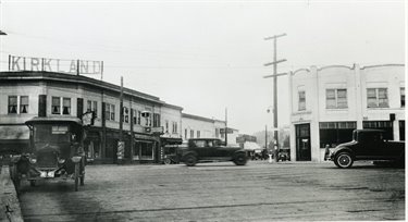 Historic Kirkland Avenue at Lake Street as viewed from the ferry dock