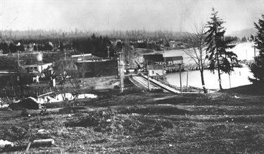 Downtown Kirkland in 1912 as viewed from present-day location of Heritage Park