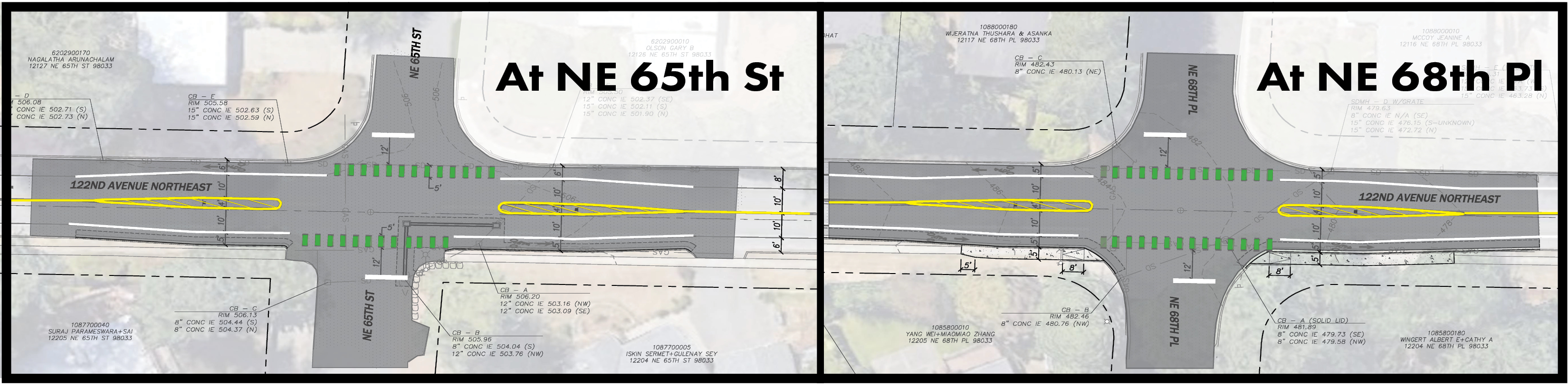 MAP of 122nd Ave NE plan