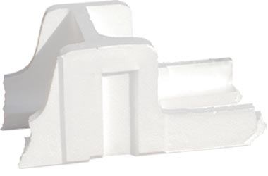 block styrofoam on white background