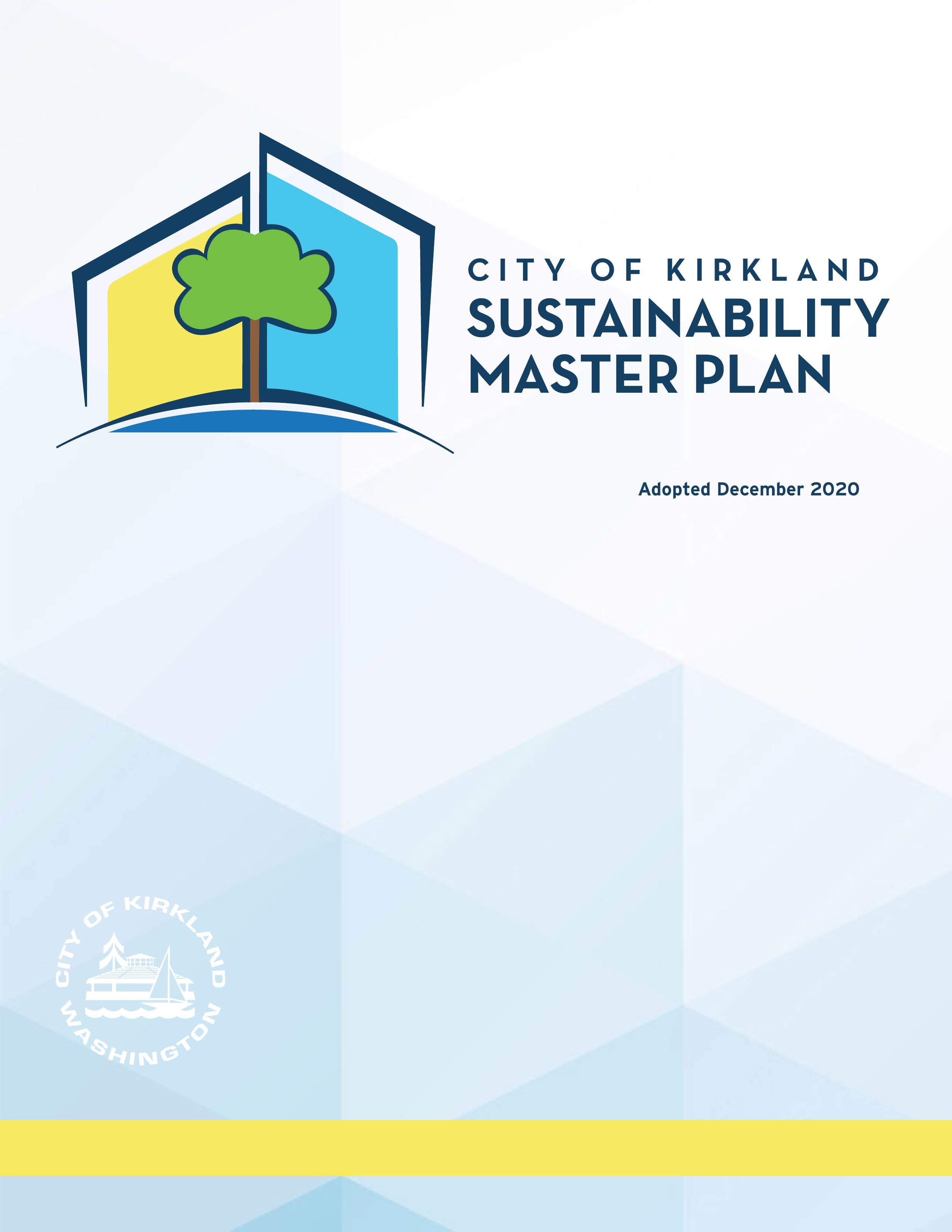Cover of Sustainability Master Plan adopted Dec 2020